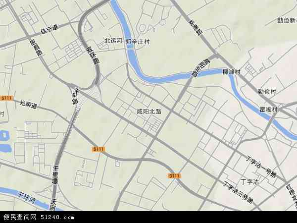 咸阳北路地图 - 咸阳北路卫星地图