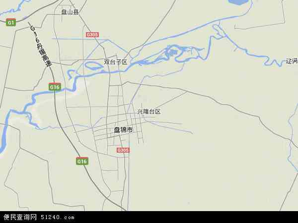 中国辽宁省盘锦市兴隆台区地图(卫星地图)