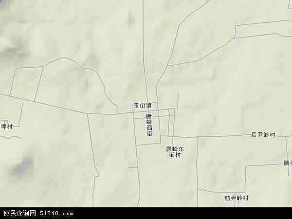 中国山东省临沂市临沭县玉山镇地图(卫星地图)