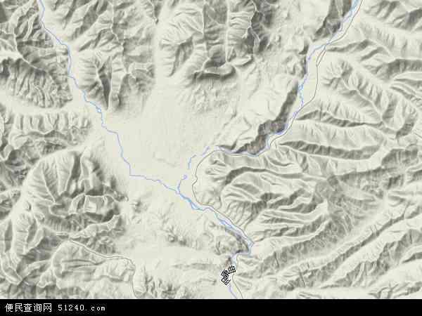 中国青海省海西蒙古族藏族自治州天峻县阳康乡地图(卫星地图)