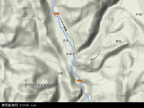 依果觉乡地形图 - 依果觉乡地形图高清版