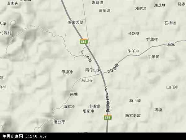 雨母山乡地图 - 雨母山乡卫星地图