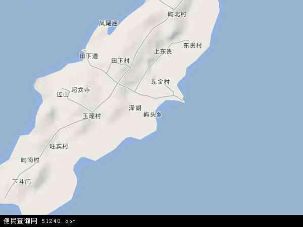 中国福建省福州市平潭县屿头乡地图(卫星地图)