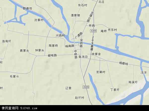 中国江苏省无锡市宜兴市杨巷镇地图(卫星地图)