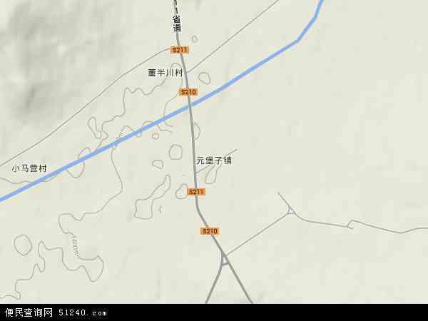 中国山西省朔州市右玉县元堡子镇地图(卫星地图)