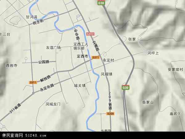 永定路地图 - 永定路卫星地图