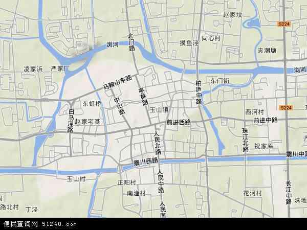 玉山镇地图 - 玉山镇卫星地图