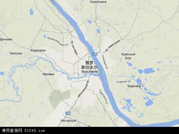 俄罗斯雅罗斯拉夫尔地图(卫星地图)
