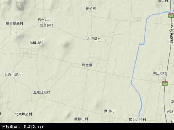 中国山东省临沂市罗庄区沂堂镇地图(卫星地图)