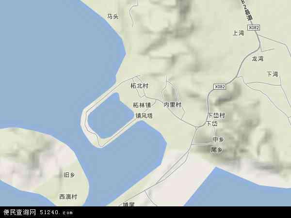 中国广东省潮州市饶平县柘林镇地图(卫星地图)