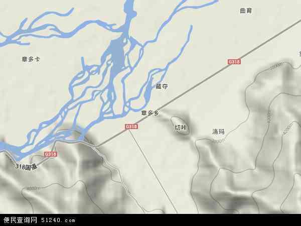 中国西藏自治区拉萨市达孜县章多乡地图(卫星地图)