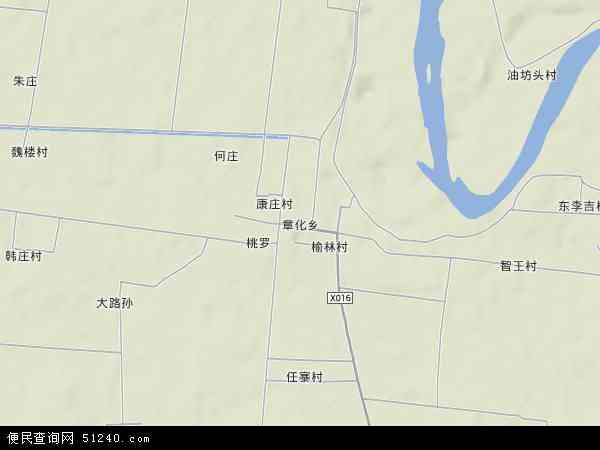 中国河南省漯河市舞阳县章化乡地图(卫星地图)