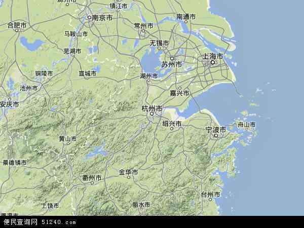 浙江地�_中国浙江省地图(卫星地图)