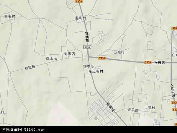中国辽宁省锦州市古塔区钟屯乡地图(卫星地图)