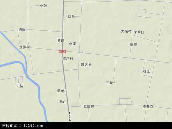中国河南省开封市 杞县宗店 乡地图(卫星地图)图片
