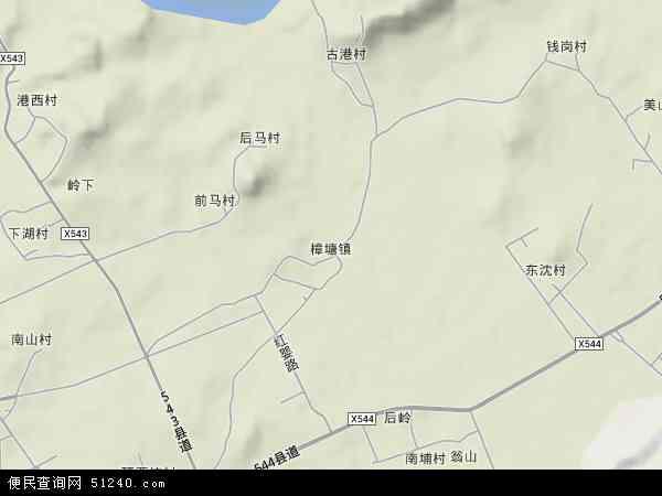 中国福建省漳州市东山县樟塘镇地图(卫星地图)