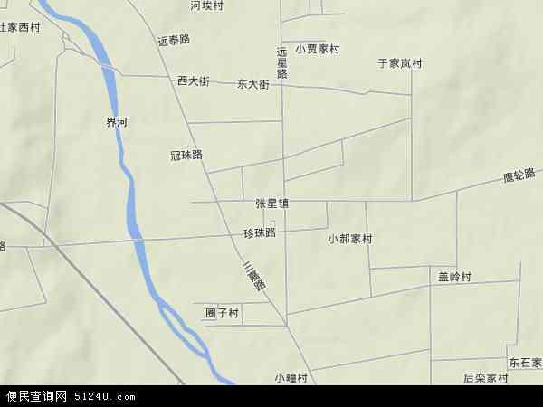 中国山东省烟台市招远市张星镇地图(卫星地图)