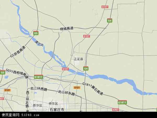 正定县地图 - 正定县卫星地图