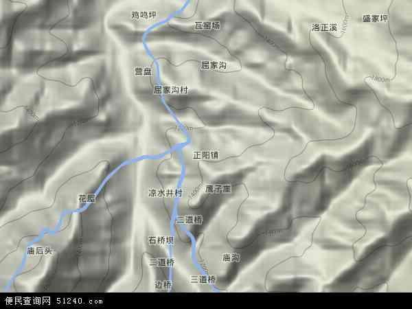 中国陕西省安康市平利县正阳镇地图(卫星地图)