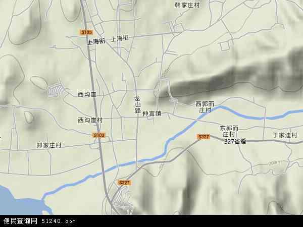 仲宫镇2017年卫星地图 中国山东省济南市历城区仲宫镇地图