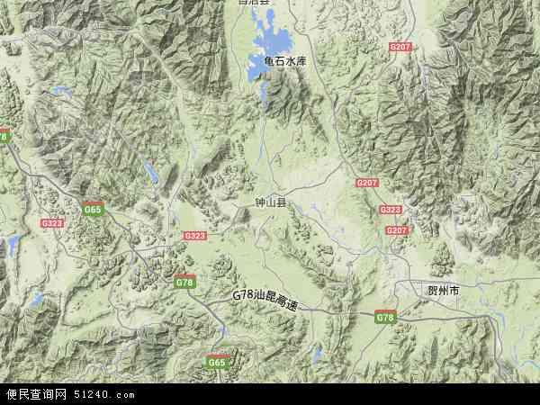 钟山县地图 - 钟山县卫星地图