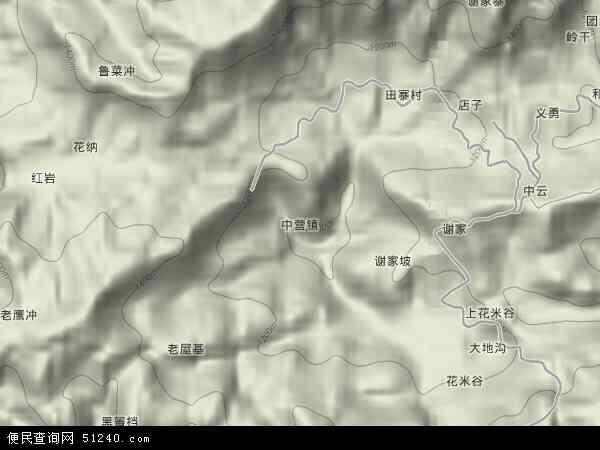 中营镇地图 - 中营镇卫星地图 - 中营镇高清航拍地图