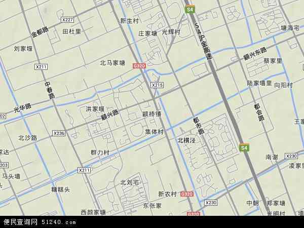 中国上海市闵行区颛桥镇地图(卫星地图)