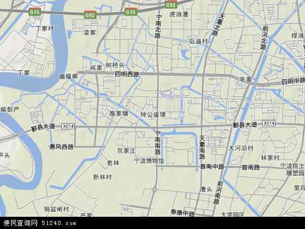 钟公庙地图 - 钟公庙卫星地图