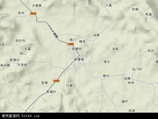 中国福建省漳州市平和县安厚农场地图(卫星地图)