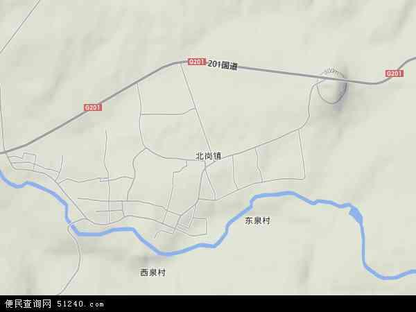 中国吉林省白山市抚松县北岗镇地图(卫星地图)