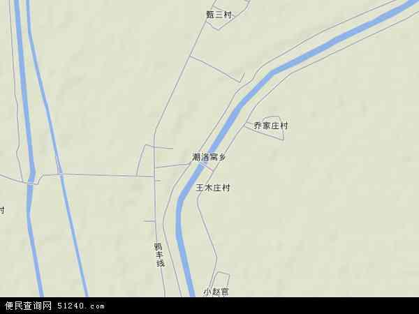 中国河北省唐山市玉田县潮洛窝乡地图(卫星地图)
