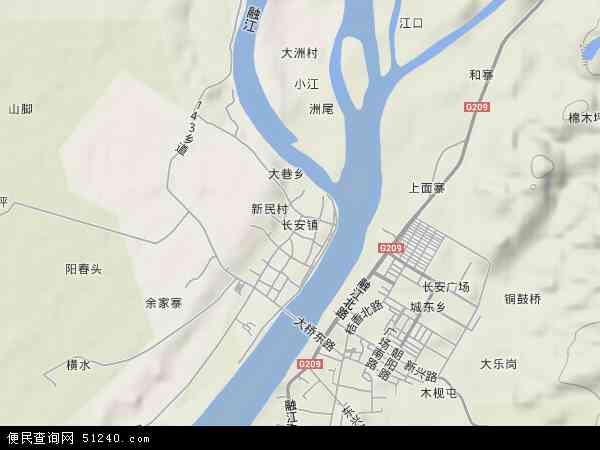 中国广西壮族自治区柳州市融安县长安镇地图