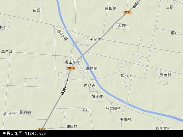 中国河南省商丘市睢县潮庄镇地图(卫星地图)