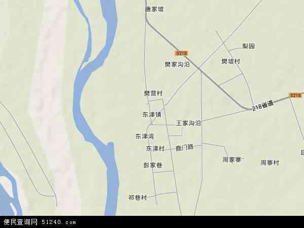 中国湖北省襄阳市襄州区东津镇地图(卫星地图)