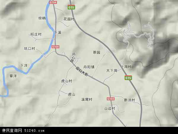 中国福建省福州市连江县丹阳镇地图(卫星地图)