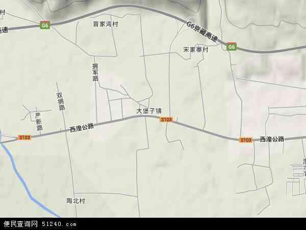 大堡子镇高清卫星地图 大堡子镇2017年卫星地图 中国青海省西宁市图片
