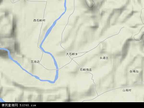 中国河北省秦皇岛市青龙满族自治县大石岭乡地图