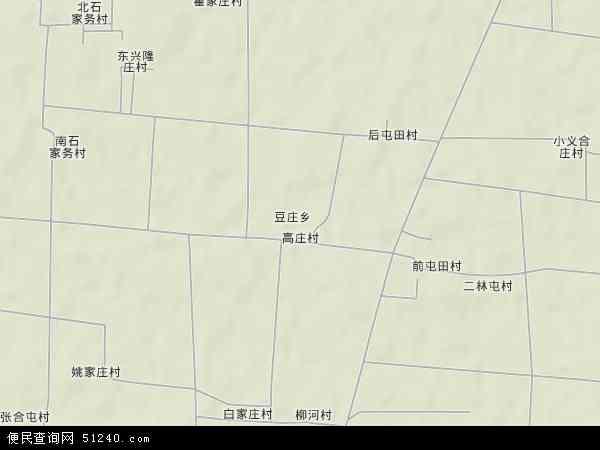 中国河北省保定市涿州市豆庄乡地图(卫星地图)