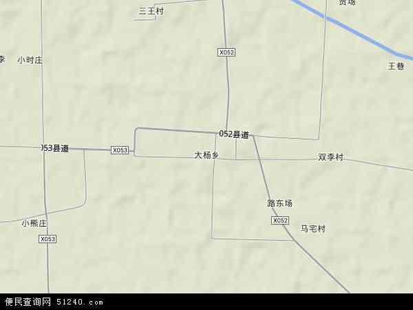 中国安徽省宿州市泗县大杨乡地图(卫星地图)