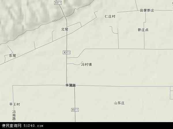 中国陕西省渭南市大荔县冯村镇地图(卫星地图)