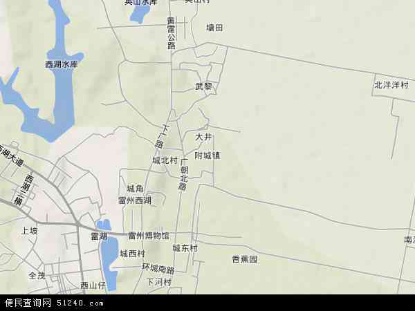 附城镇地形图 - 附城镇地形图高清版 - 2017年附城镇地形图