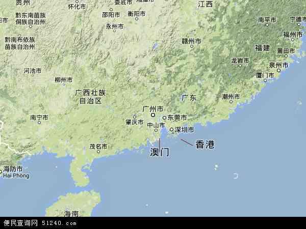 广东省地图 - 广东省卫星地图 - 广东省高清航拍地图