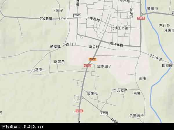 广宁乡地图 - 广宁乡卫星地图图片