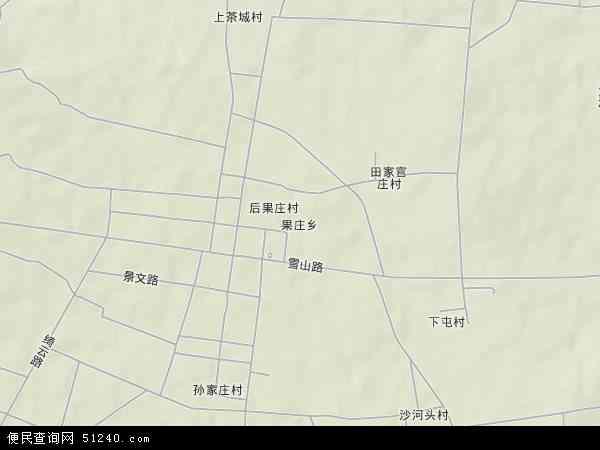 中国山东省日照市莒县果庄乡地图(卫星地图)