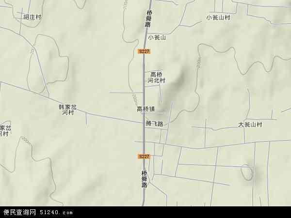 中国山东省临沂市沂水县高桥镇地图(卫星地图)