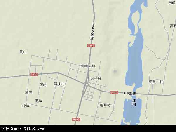 中国山东省临沂市郯城县高峰头镇地图(卫星地图)