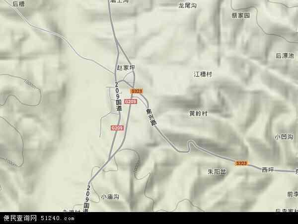 中国河南省三门峡市卢氏县官道口镇地图(卫星地图)