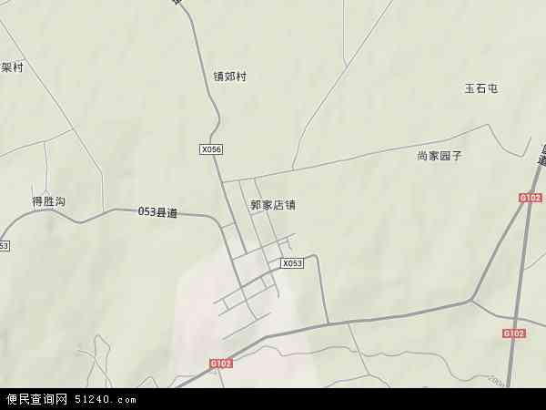 中国吉林省四平市梨树县郭家店镇地图(卫星地图)