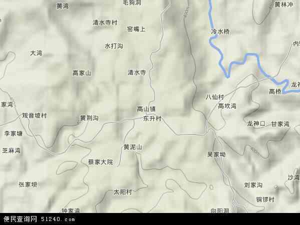 高山镇地图 - 高山镇卫星地图 - 高山镇高清航拍地图