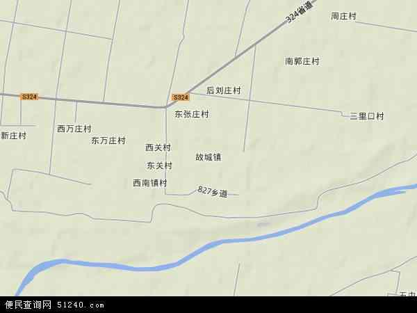 中国河北省衡水市故城县故城镇地图(卫星地图)